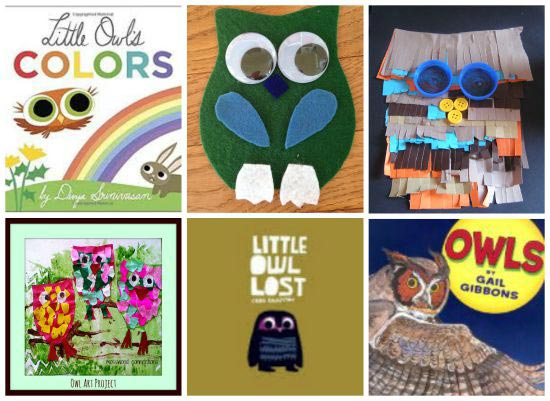 owl books and crafts for kids