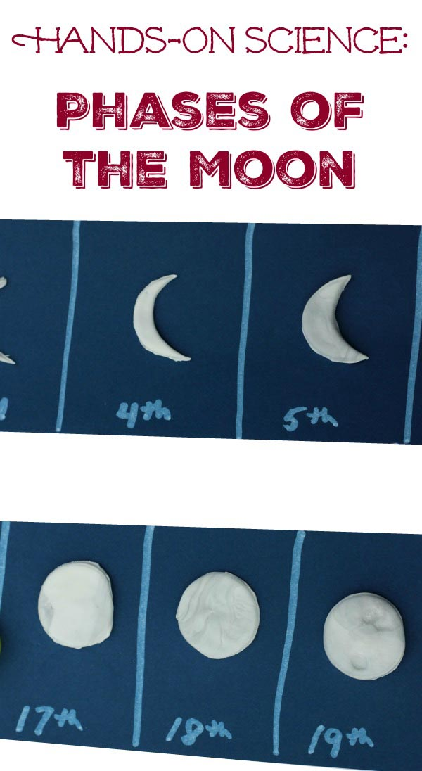 Moon Activities for Kids: 3D Phases of the Moon project