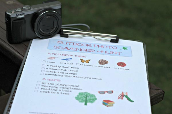 Printable Photo Scavenger Hunt for Kids