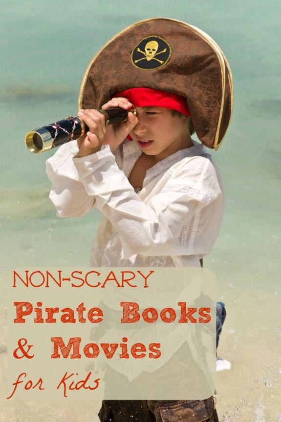 Pirate books and movies for kids that aren't scary