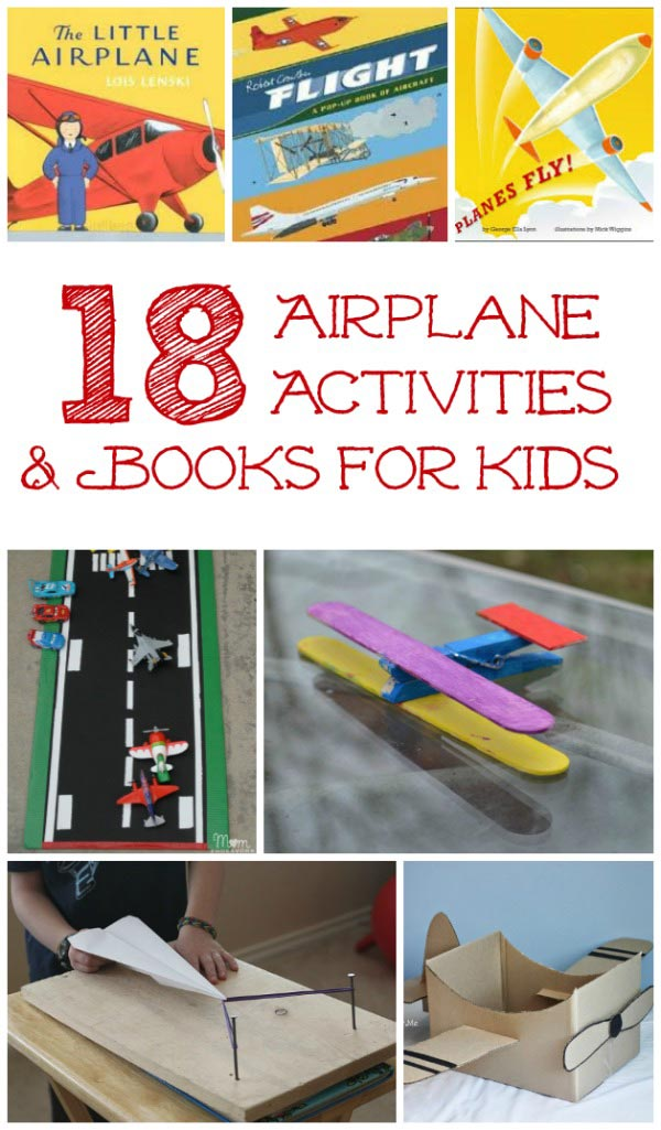 paper airplanes, plane books & crafts for kids