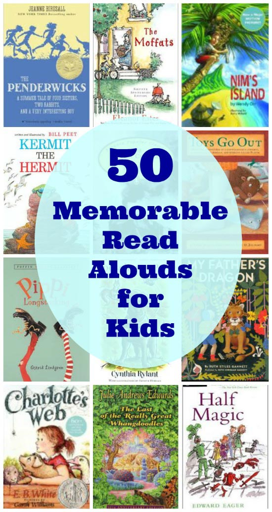 Great Read Aloud Books for Kids from preschool to middle school