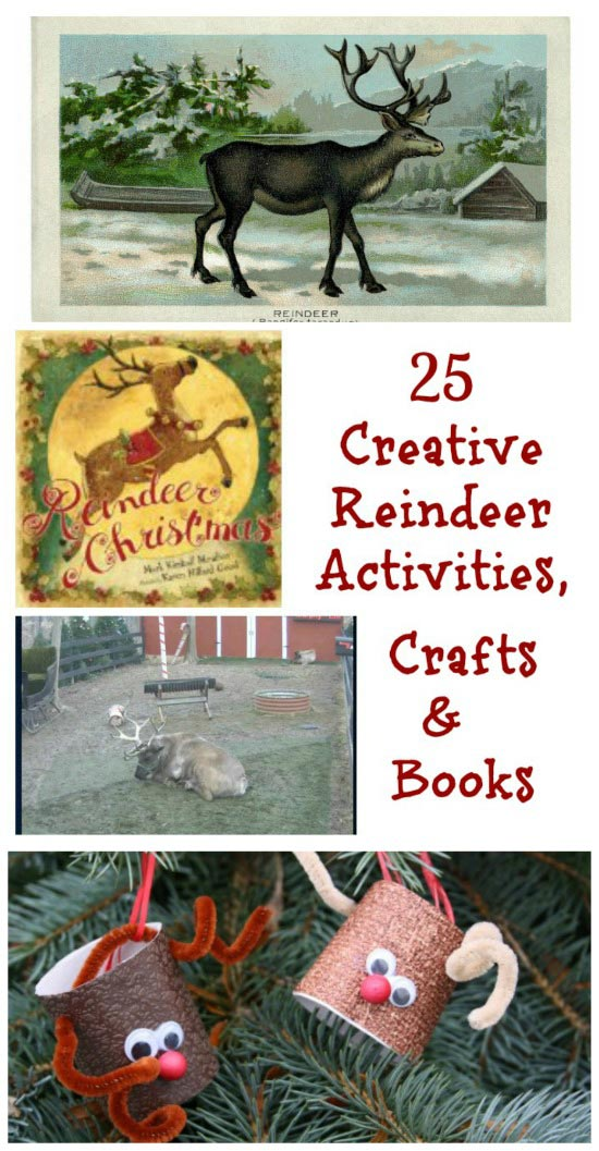 reindeer books, crafts and activities for kids