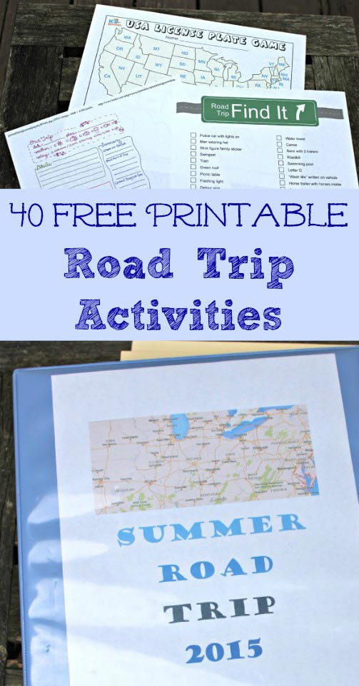 Road Trip Activities for Kids - free games & printables