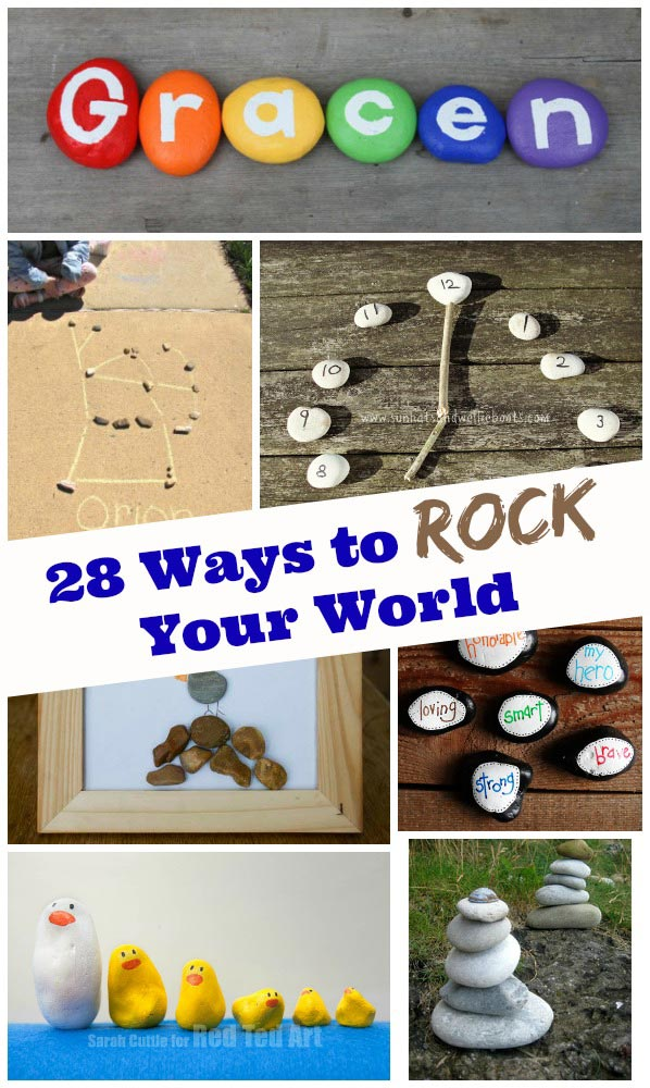 Rock crafts and activities for kids
