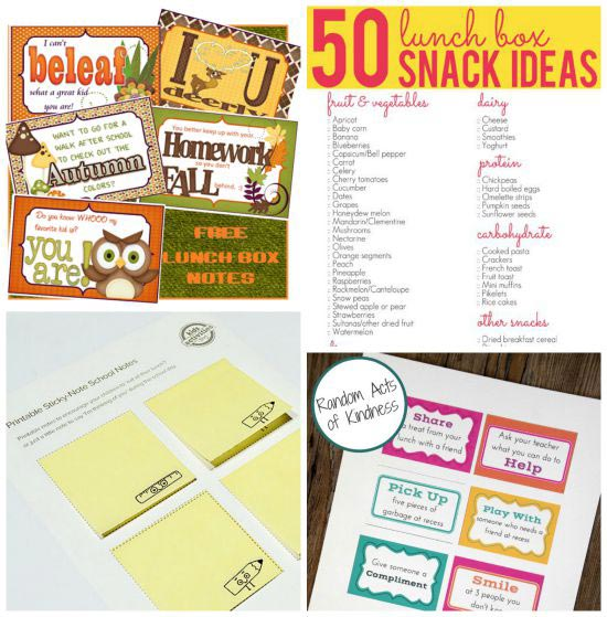 free printable lunch notes and jokes for back to school