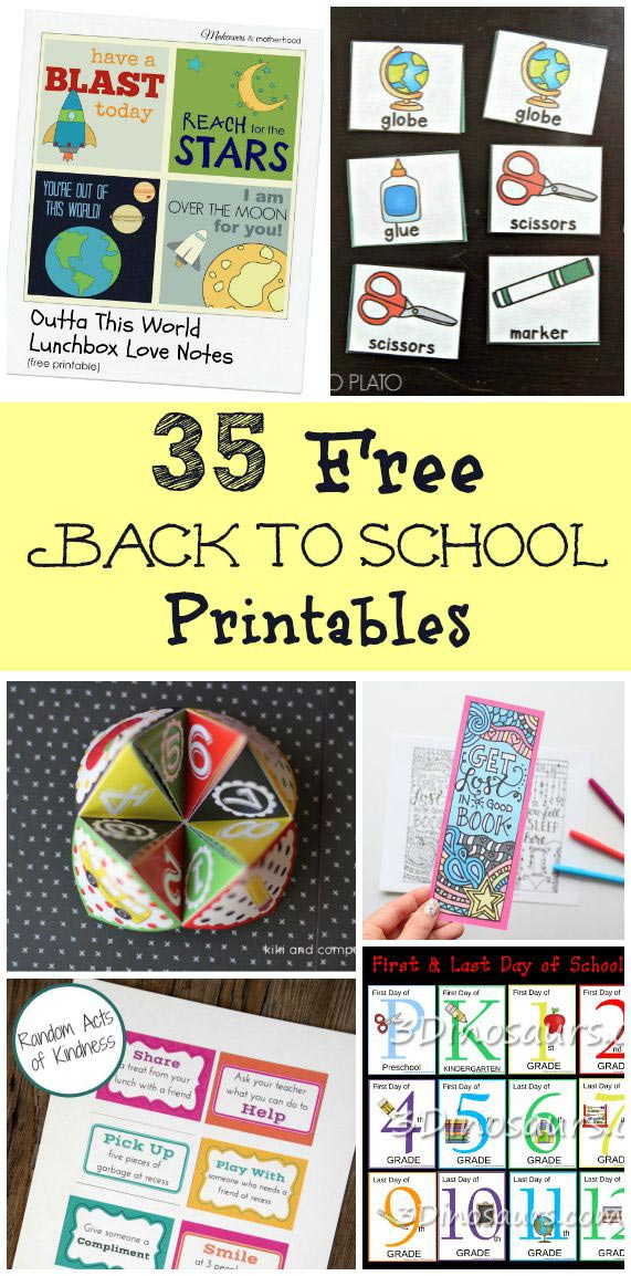 Free first day of school and back to school printables for parents and kids!