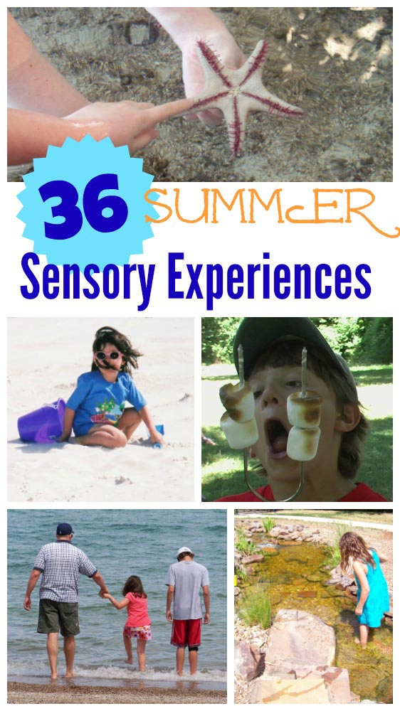 Summer activites for tweens and teens with sensory ideas