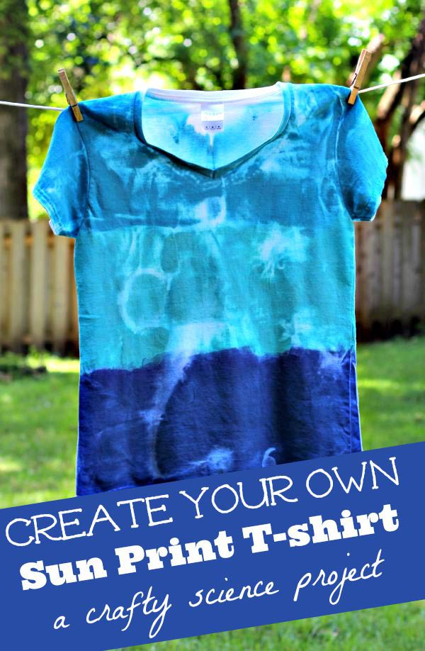 Great craft for teens - solar print tshirts made in the sun!