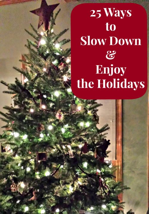 slow down and enjoy christmas