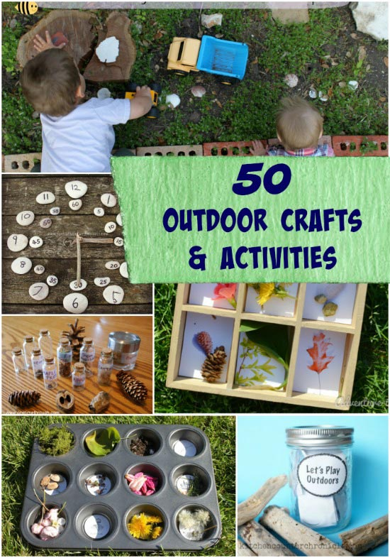 Awesome outdoor activities, games and nature crafts for kids!