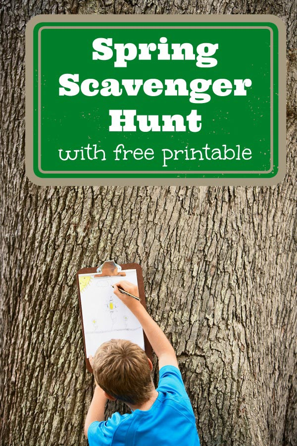 Spring scavenger hunt - free printable outdoor activity for kids