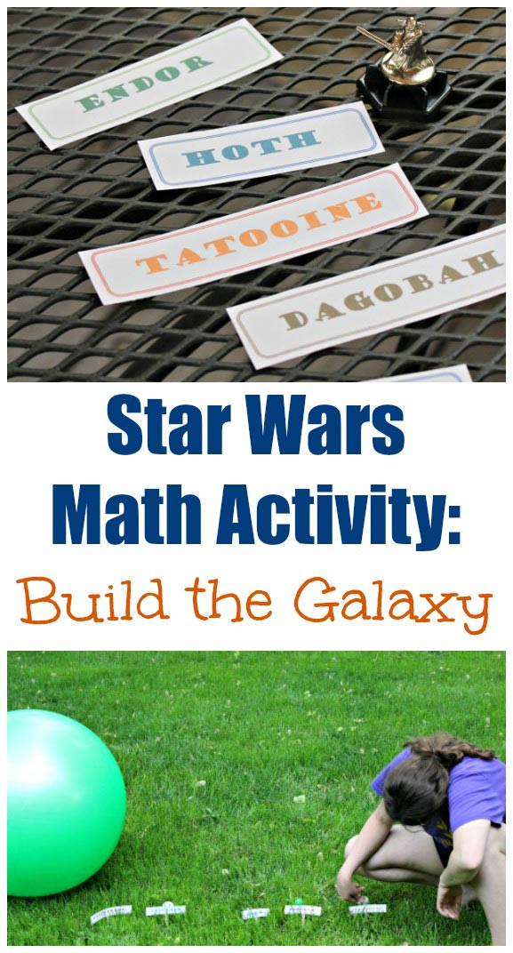 Star Wars Planets Math Game with free printable