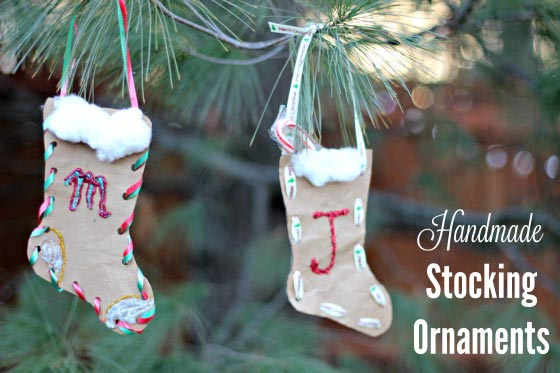 DIY Christmas stocking ornament craft for kids