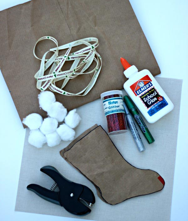 DIY stocking ornament craft for kids