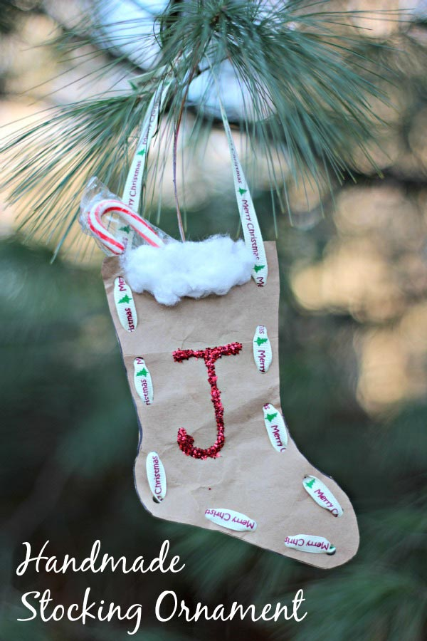 Christmas Craft: Paper Bag Stocking Ornament - Edventures ...