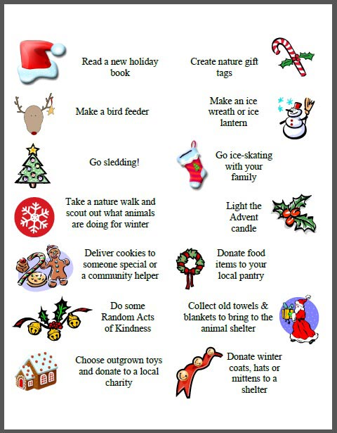100 Advent Activity Ideas - Free printables for your Christmas ...