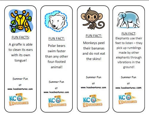 Zoo Animals bookmarks