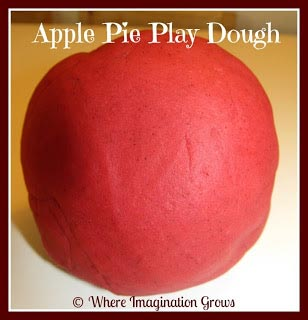 Apple Playdough