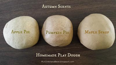 Fall scented Playdough