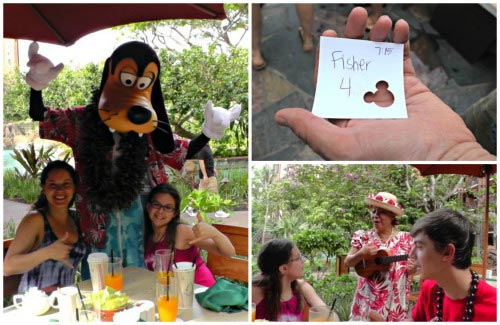 Aulani Character Breakfast at Oahu Hawaii
