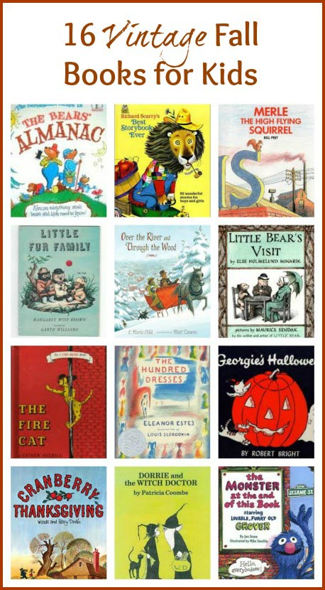 Vintage Books for Fall and Autumn | Classic book lists for kids