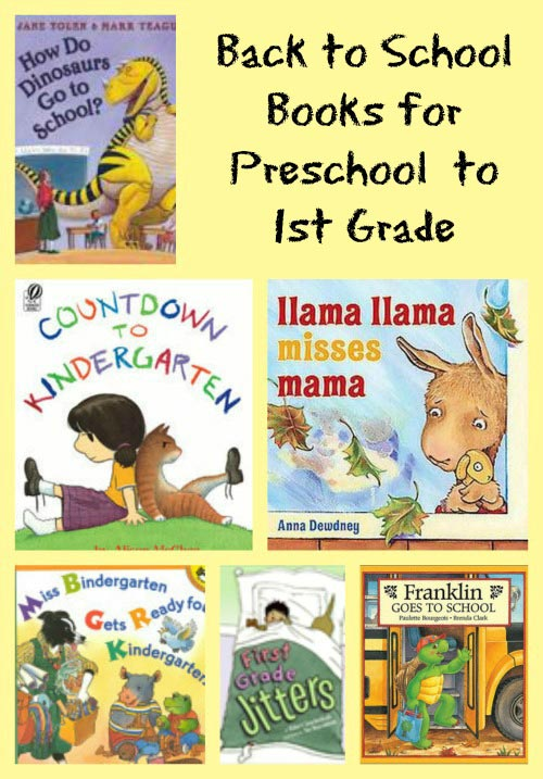 Back to School books Preschool thru 1st Grade