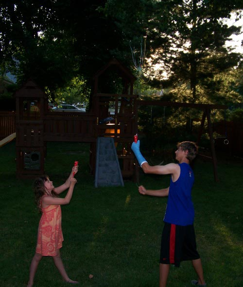 Enjoy some Backyard Games in the Evening