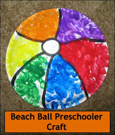 beach ball kids craft