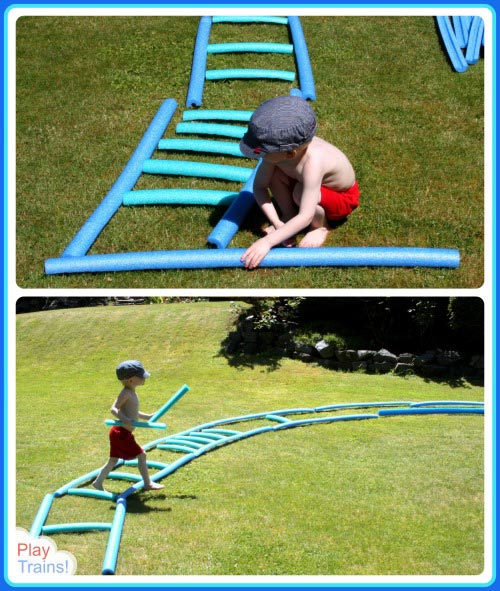 Build a Train Track sprinkler