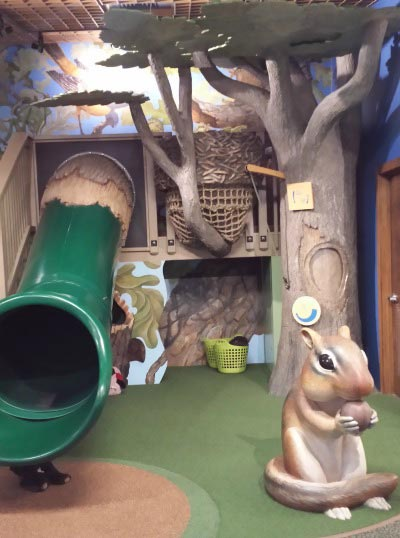 Play area at Burr Oak Woods Nature Center