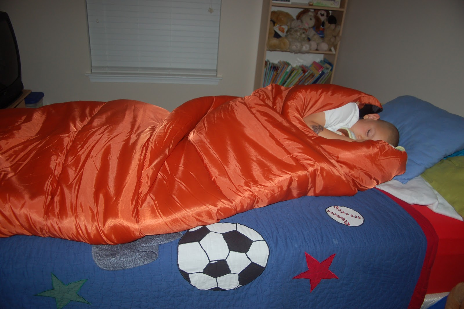 Indoor Camping in the living room -- fun idea for bad weather