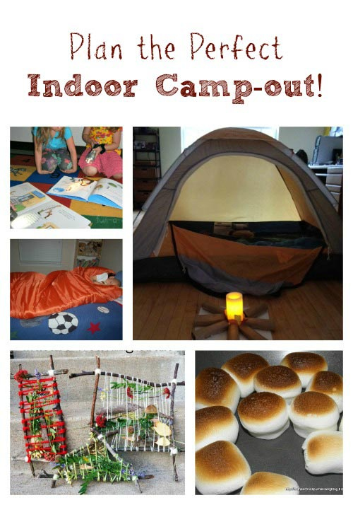 Plan for a fun Indoor Camping Adventure with kids