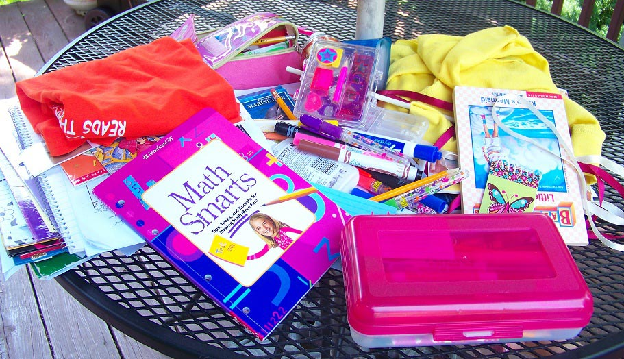 Organize school supplies for Fall