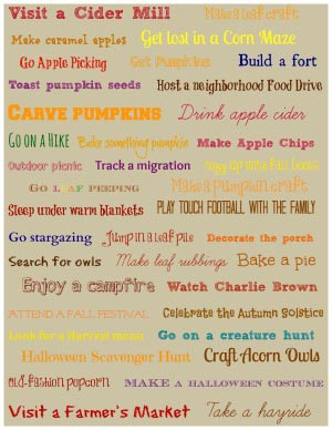 40 Fun Ideas for Fall