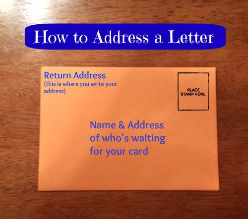 Learn to address a letter