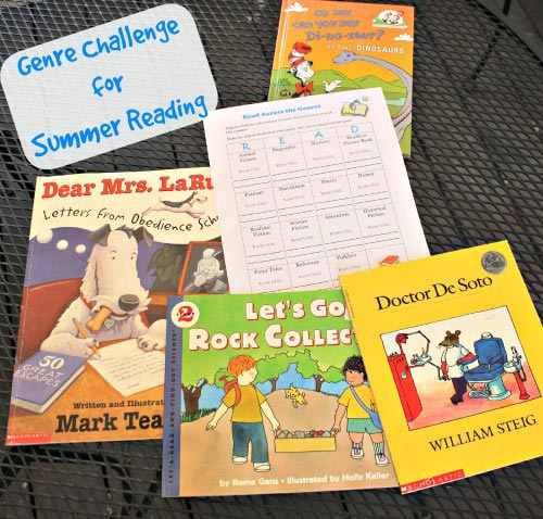 Challenge the Kids to read a variety of books this summer!