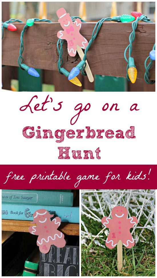 fun christmas games for kids: go on a gingerbread hunt