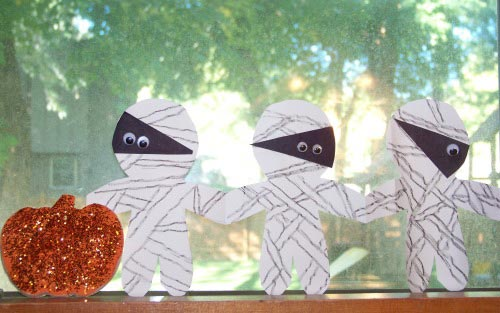 Mummy Garland Craft