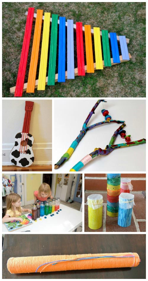 8 gorgeous handmade instruments made from recycled items for Diy crafts with things around the house