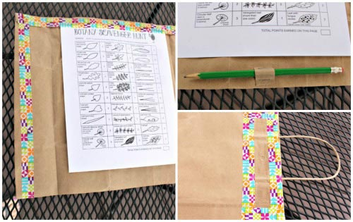 An easy DIY Nature Journal with more than 70 free printables outdoor activities!