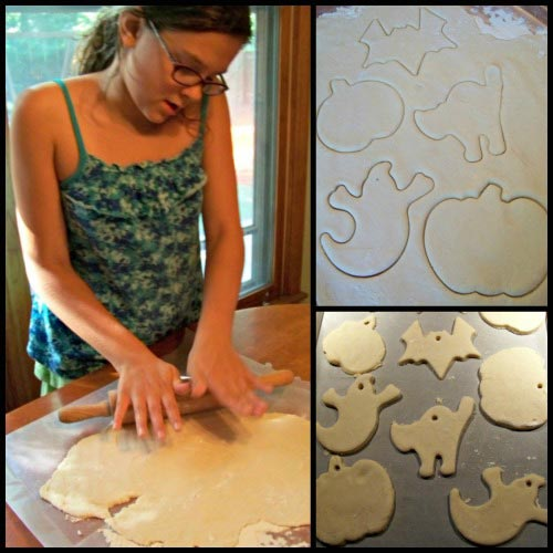 Make salt-dough ornaments for Halloween