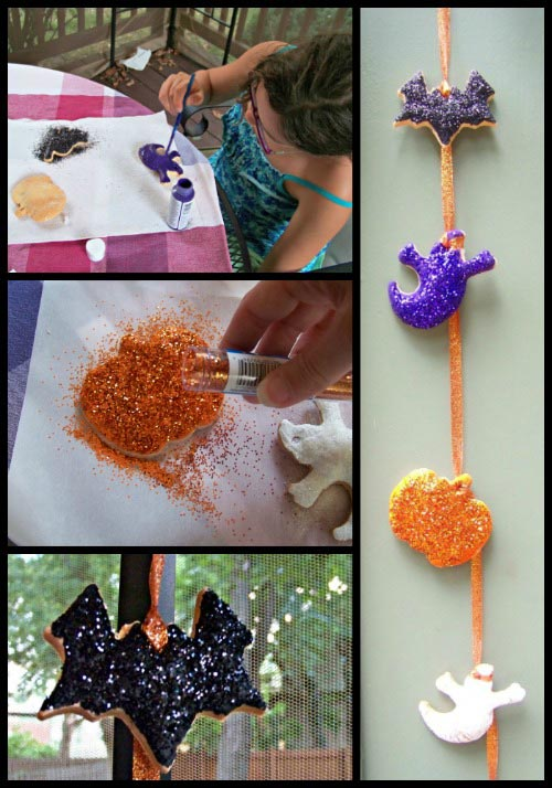 DIY Salt-dough Halloween Garland