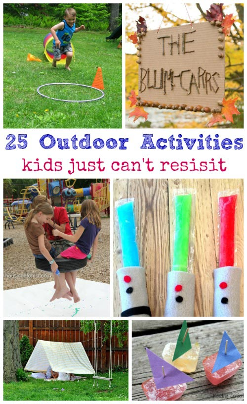 Easy outdoor summer activities for kids - fun things to do in the backyard!