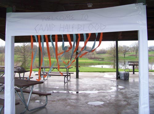 Camp Halfblood at Percy Jackson Party