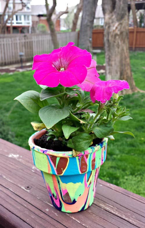 Flower Pot crafts - easy kids idea for Mothers Day or Teacher gift