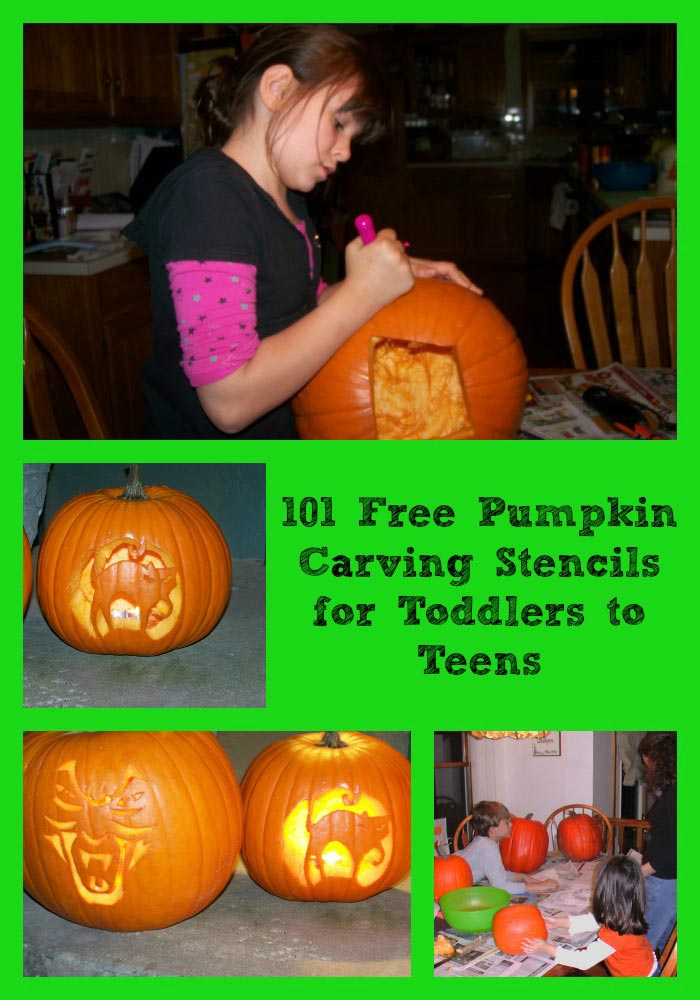 101+ Pumpkin Stencils for Kids