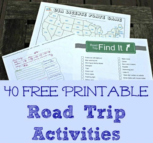 Road Trip activities and games