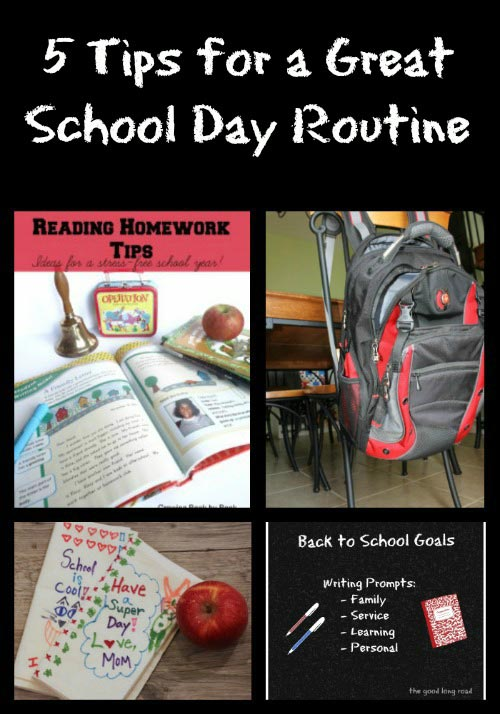 Tips for a Great School Day Routine