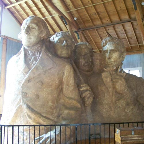 Mount Rushmore original artist rendition